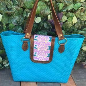 Oaxaca Handwoven Plastic & Embroidered Handbag
